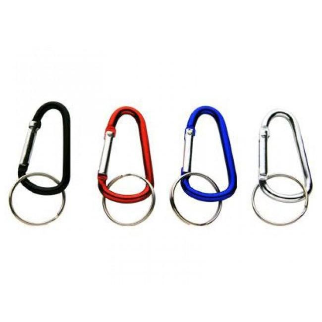 CB02 D Shape Carabiner Keyrings (48mm) - Only For Sale With Other Items