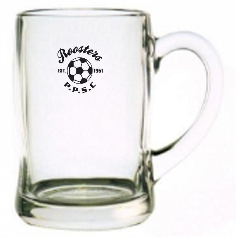 GLBMG2616 450ml Benidorm Printed Glass Beer Mugs