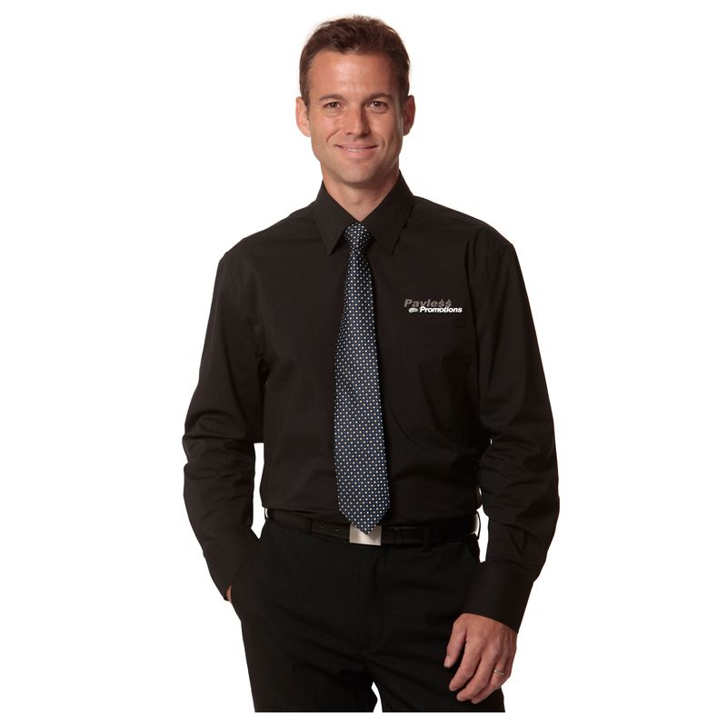 M7020L Comfort Embroidered Corporate Shirts With Stretch - Benchmark Range
