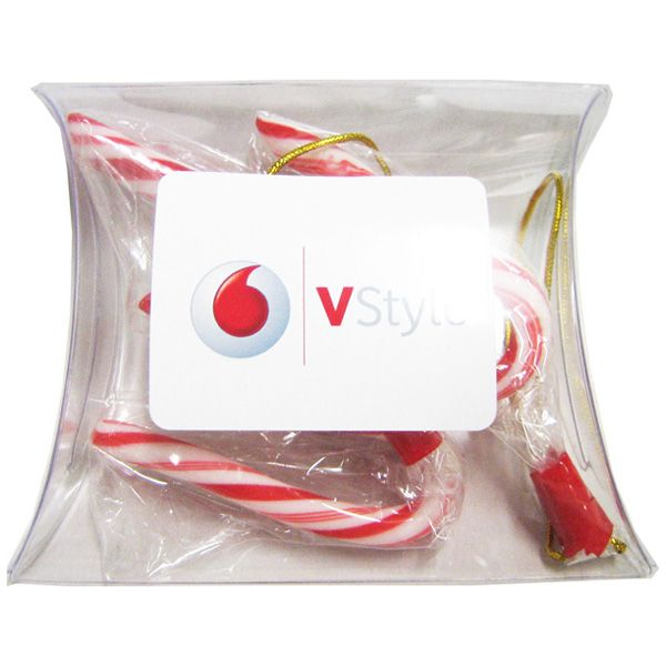 CCX011B Christmas Logo Lolly Bags With Candy Canes - 34g