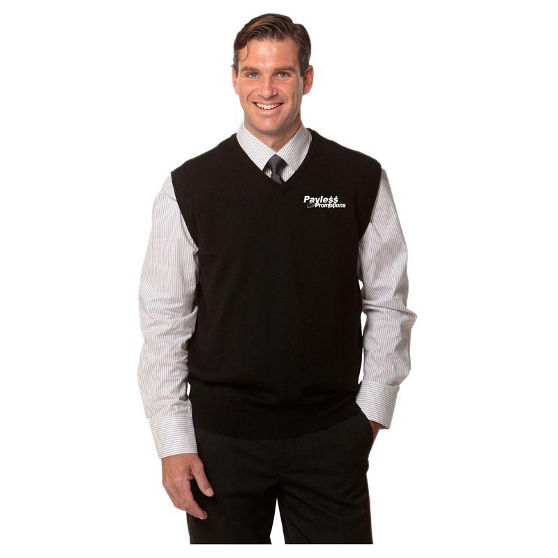 M9501 Men's 100% Merino Wool Logo Knit Vests - Benchmark Range