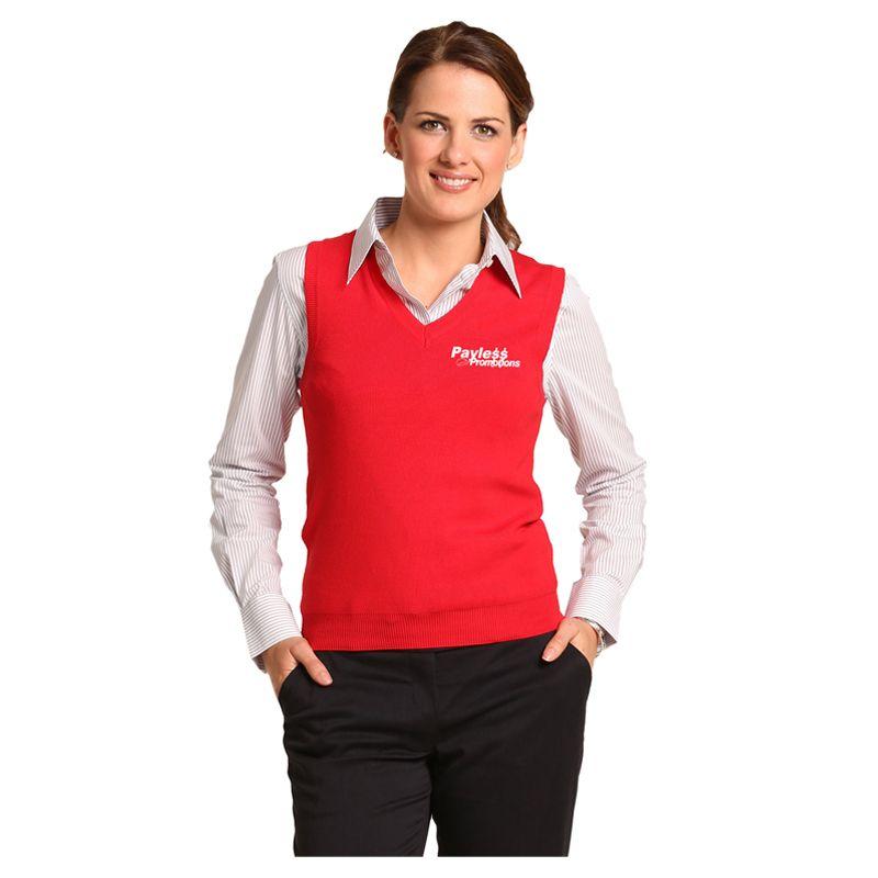 M9601 Ladies 100% Merino Wool Custom Knitted Vests - Benchmark Range