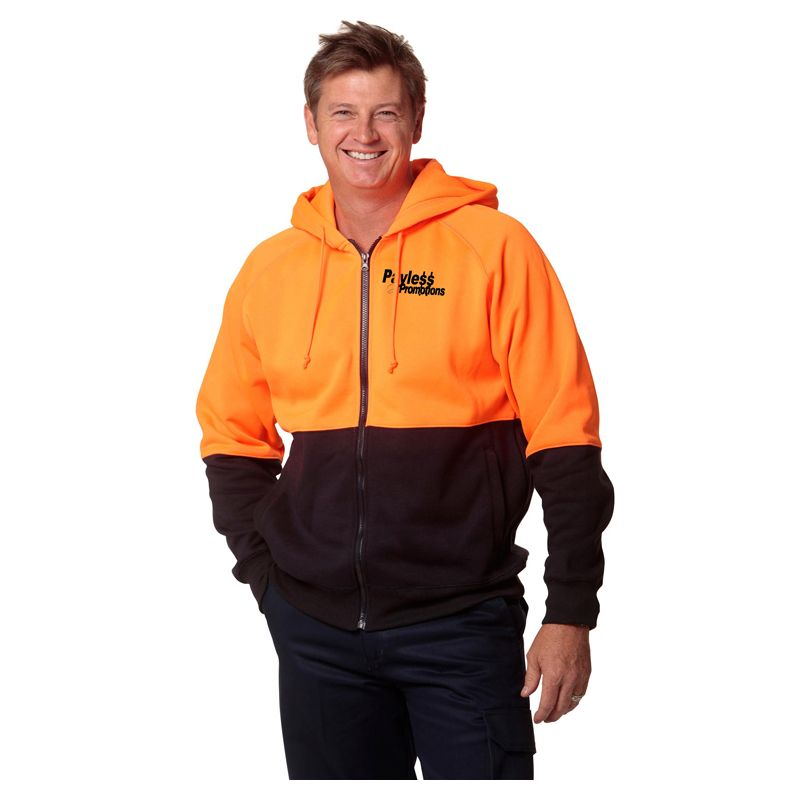 SW24 Two Tone Custom High Vis Hoodies
