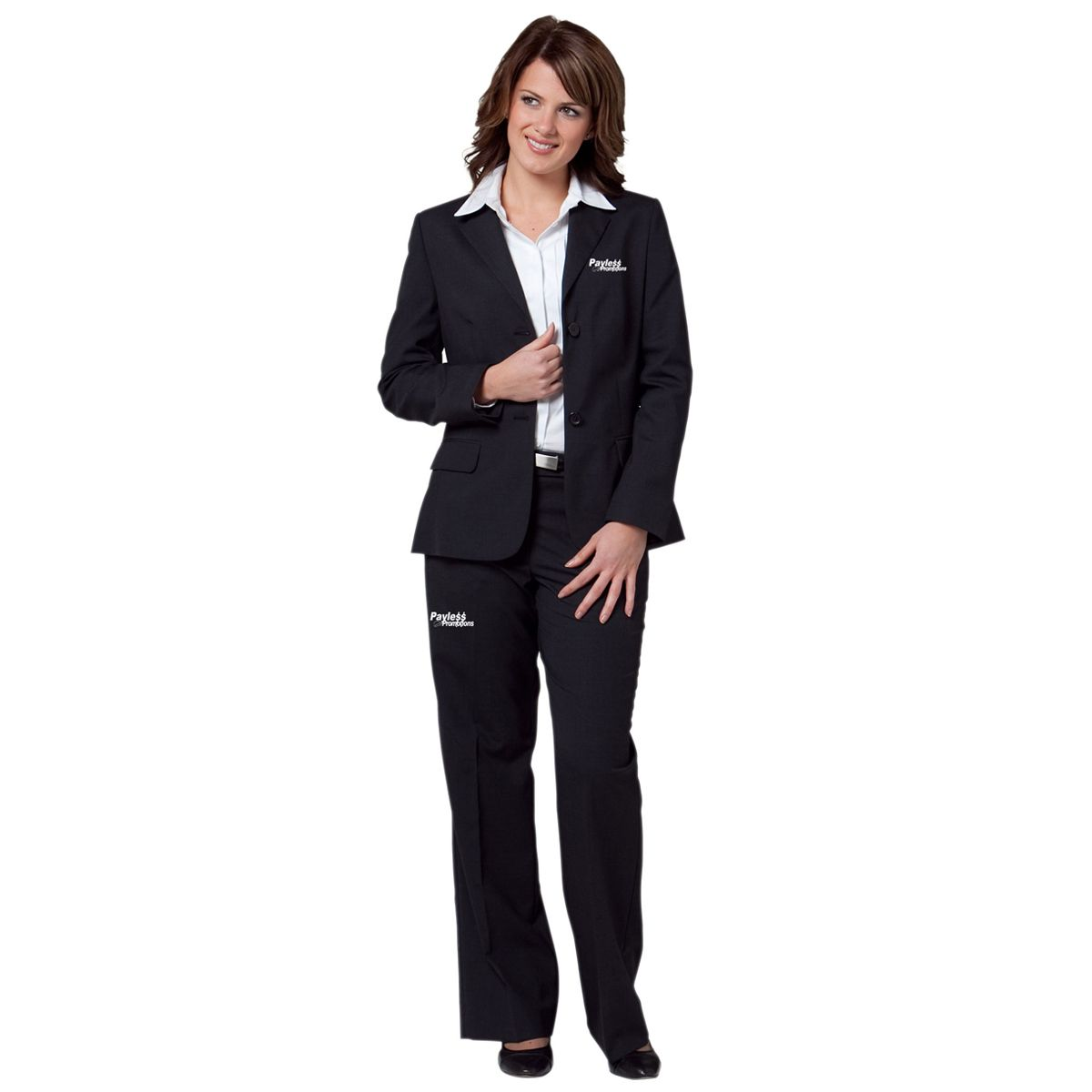 M9206 Ladies Poly/Viscose Two Button Embroidered Suit Jackets