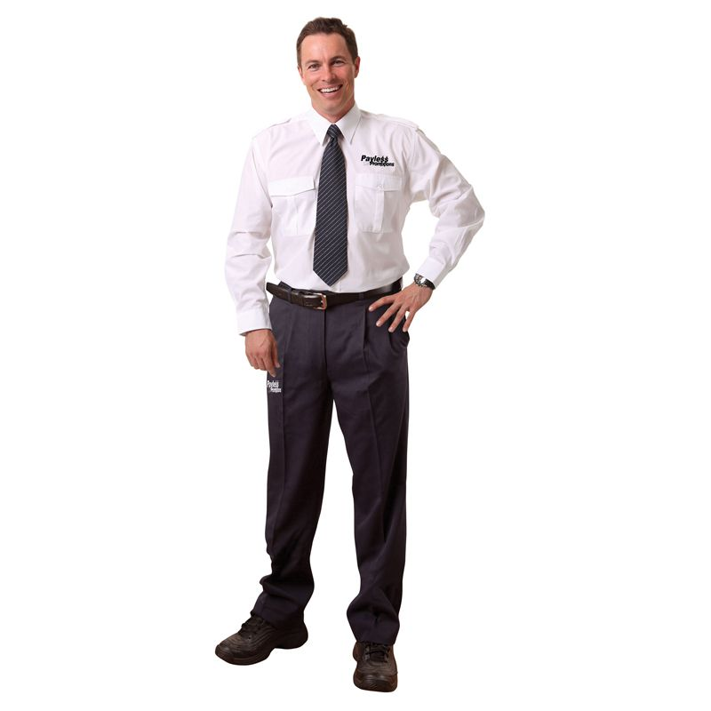 WP19 Poly/Viscose Twill Branded Work Wear Pants With Adjustable Waist