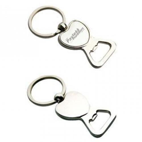K29 Heart Shaped Promotional Bottle Opener Key Rings With Gift Box
