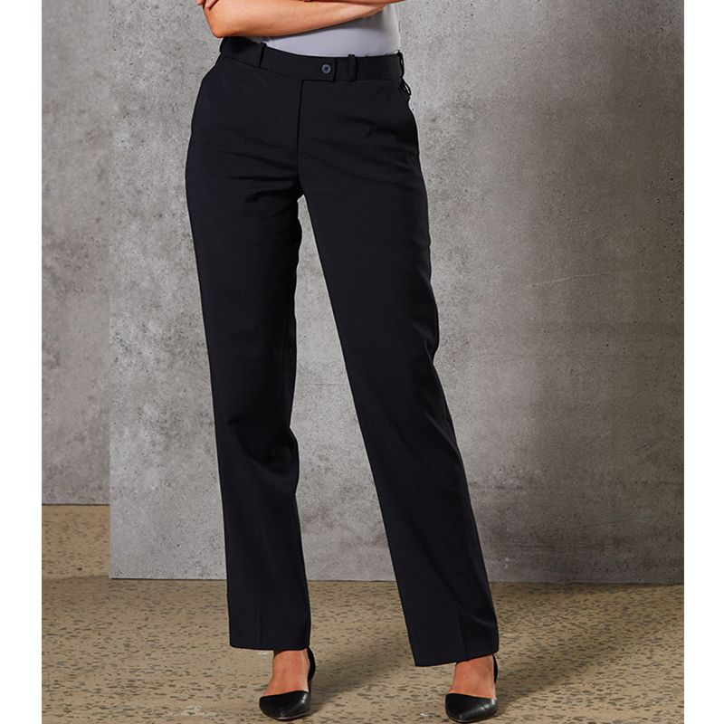 46e0ac43 M9400 Ladies Wool Blend Embroidered Corporate Slacks With Stretch &  Adjustable Waist