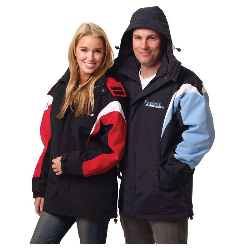 JK28 Unisex Bathurst Branded Rain Jackets With Concealed Hood