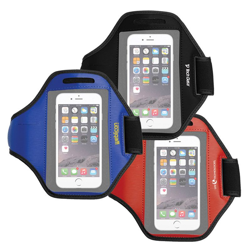 T400B Smart Phone Promotional Running Armbands With Key Pocket