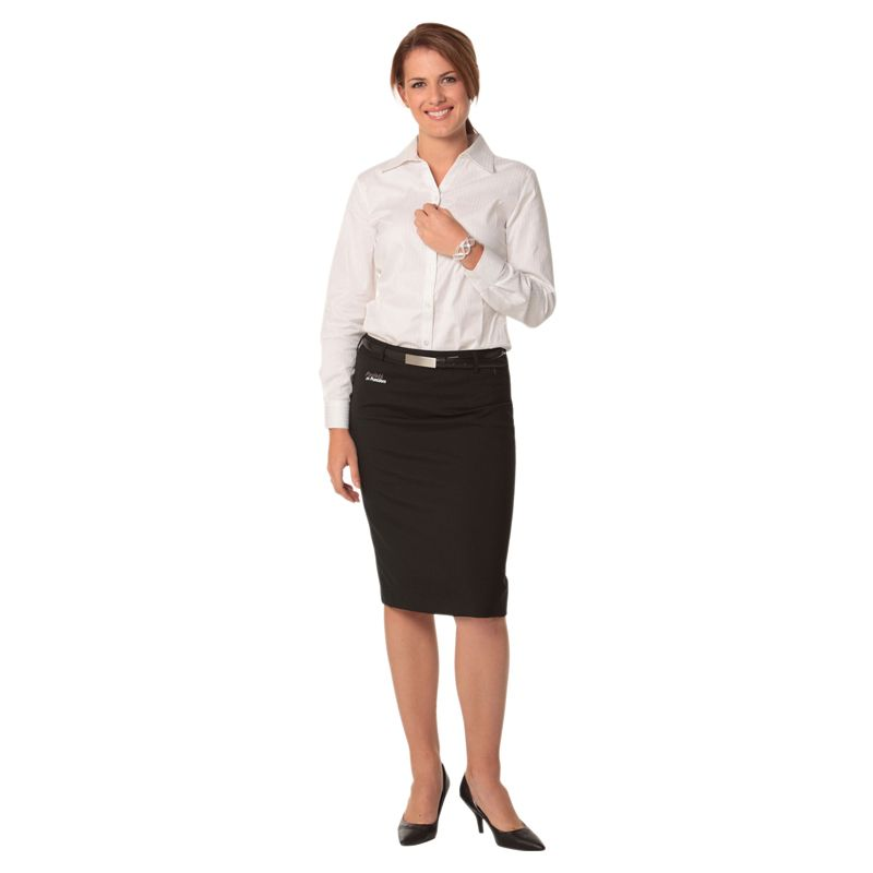M9470 Mid Length Wool Blend Pencil Custom Skirts With Stretch