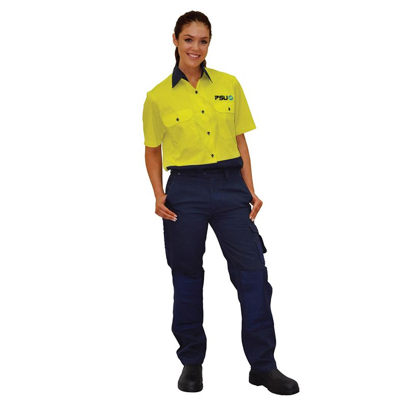 WP10 Ladies Premium cordura Canvas Branded Work Pants