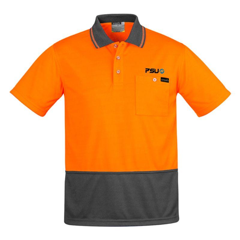 ZH415 Comfort Back Short Sleeve Logo Hi Vis Polos