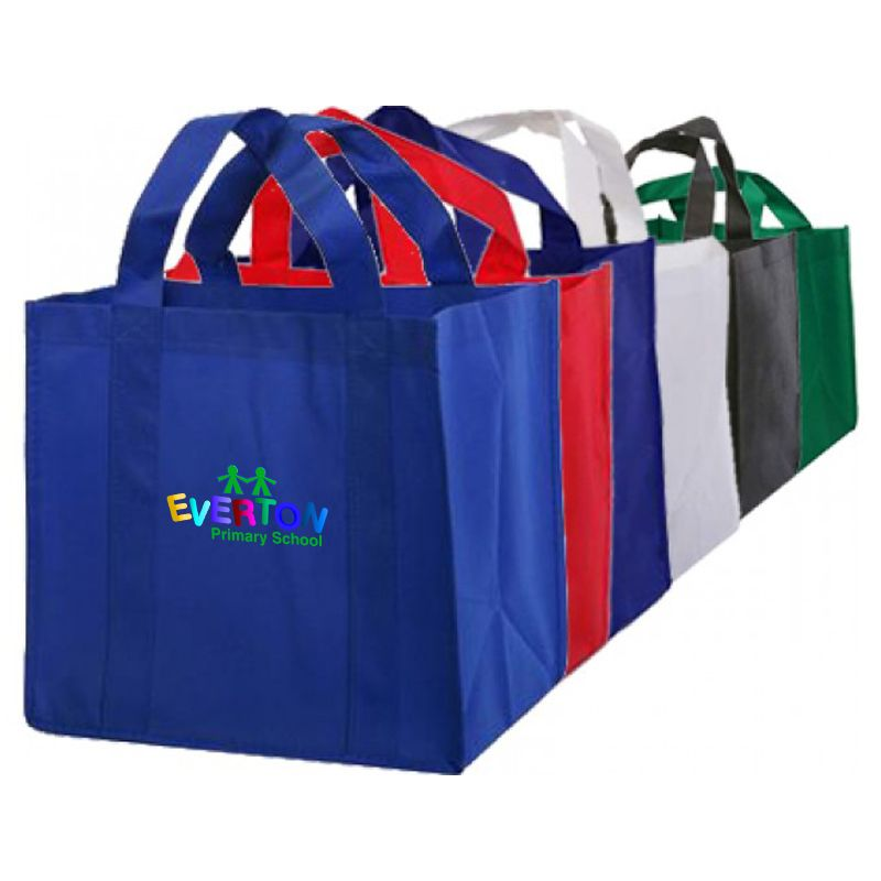 B04 Supermarket Logo Tote Bags With Baseboard (32cm x 30cm x 23cm)