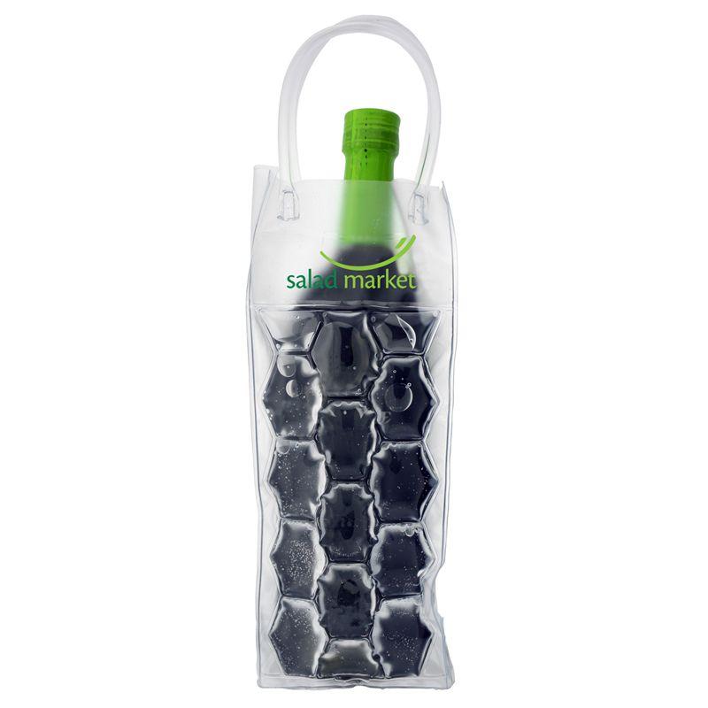 B-601 Custom Gel Wine Tote Bag