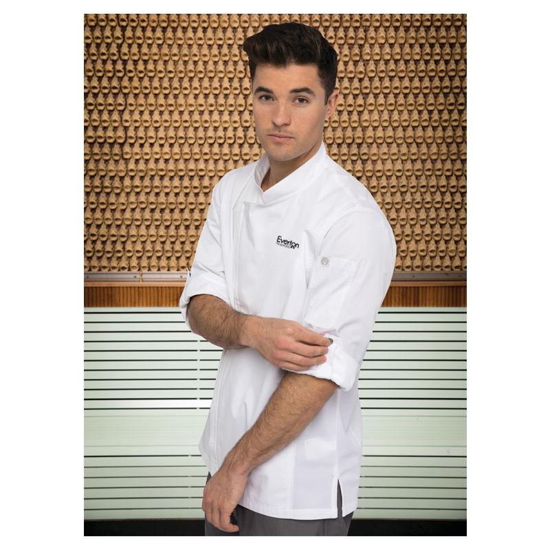 BCLZ008 Hartford Zipper Cafe Chefs Jackets