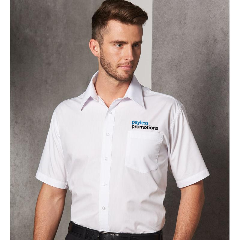 BS01S Lightweight Poplin Embroidered Business Shirts