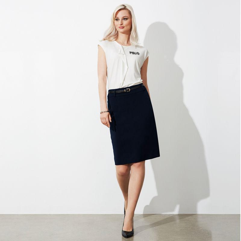 BS734L Ladies Loren Logo Skirts
