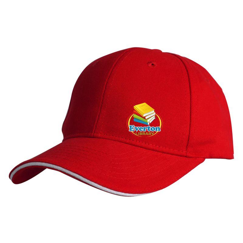 C01 Sandwich Peak Custom Caps With Full Colour Print