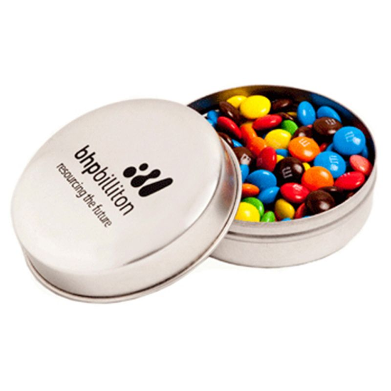 CC046E3 M&M (Mixed Colours) Filled Candle Tins - 50g