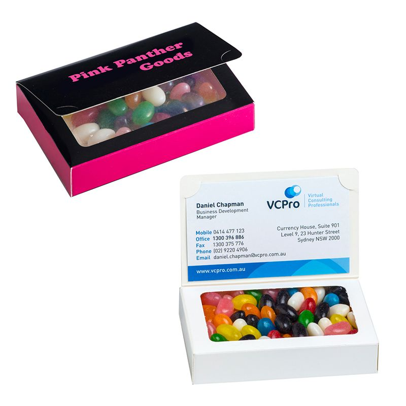 CC069AP Biz Card Box with Jelly Beans + Full Custom Box Print - 50g