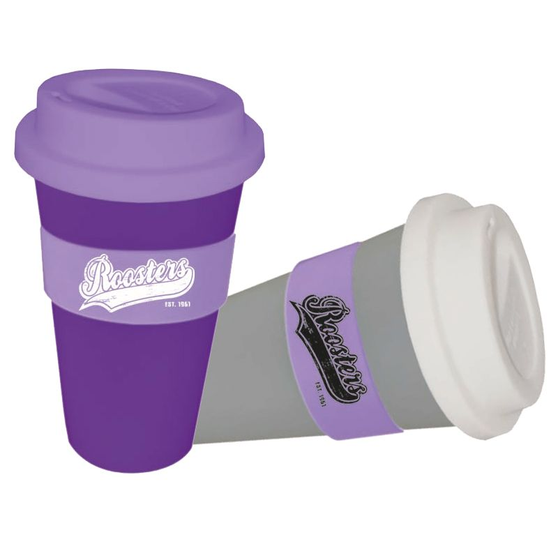 CC450SS-M Metallic 450ml Personalised Re-usable Coffee Cups With Soft Silicon Lid
