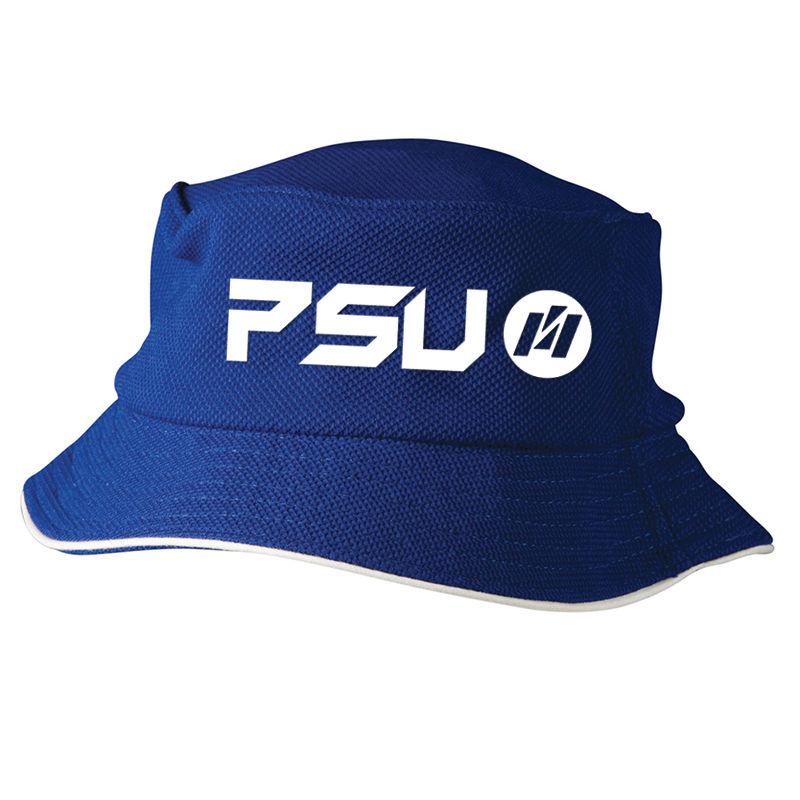 CH71 Pique Mesh Logo Bucket Hats With Contrast Trim