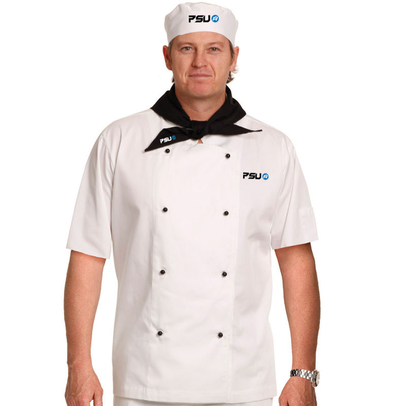 CJ02 Traditional Short Sleeve Branded Chefs Jackets