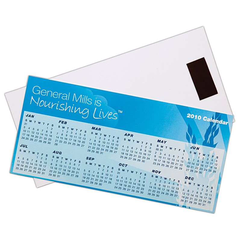 CL101 Gloss Laminated Promotional Magnetic Calendars (210 x 100mm)