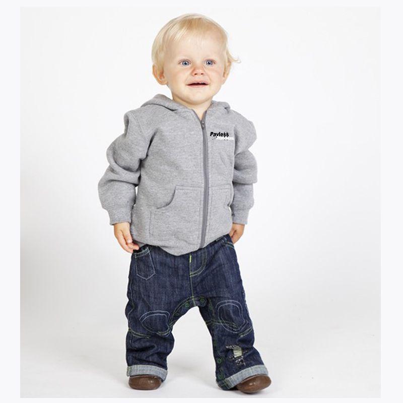 F100ZZ Babies/Kids Cotton Rich Logo Zip Hoodies