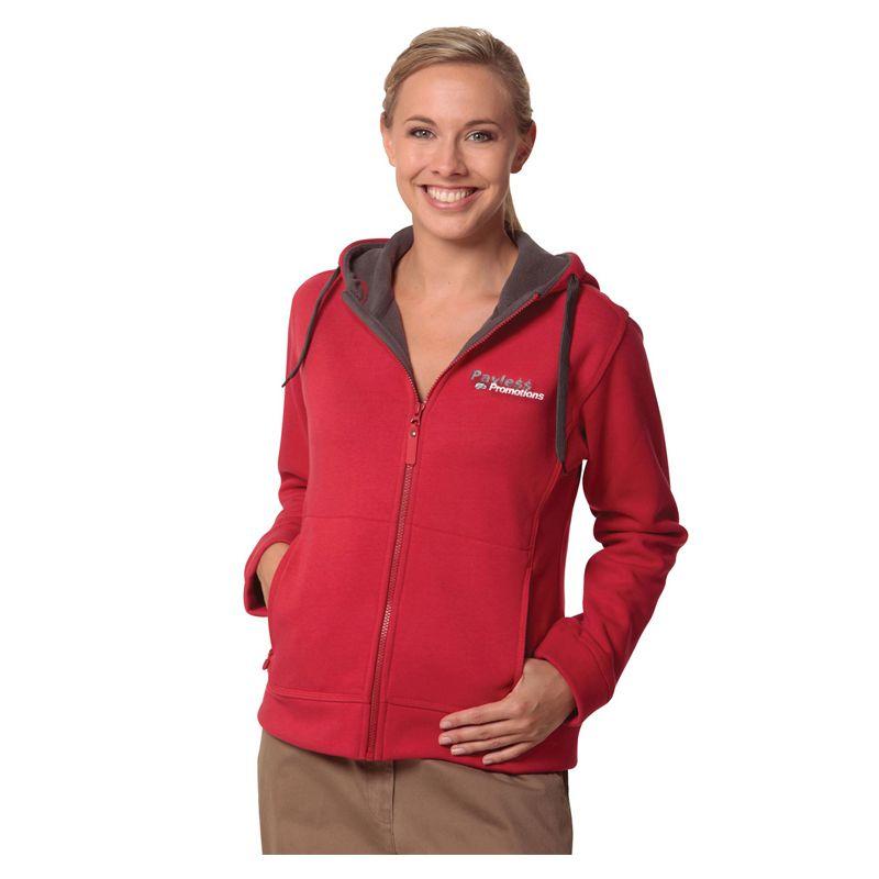 FL18 Ladies Bonded Polar Fleece Logo Hoodies