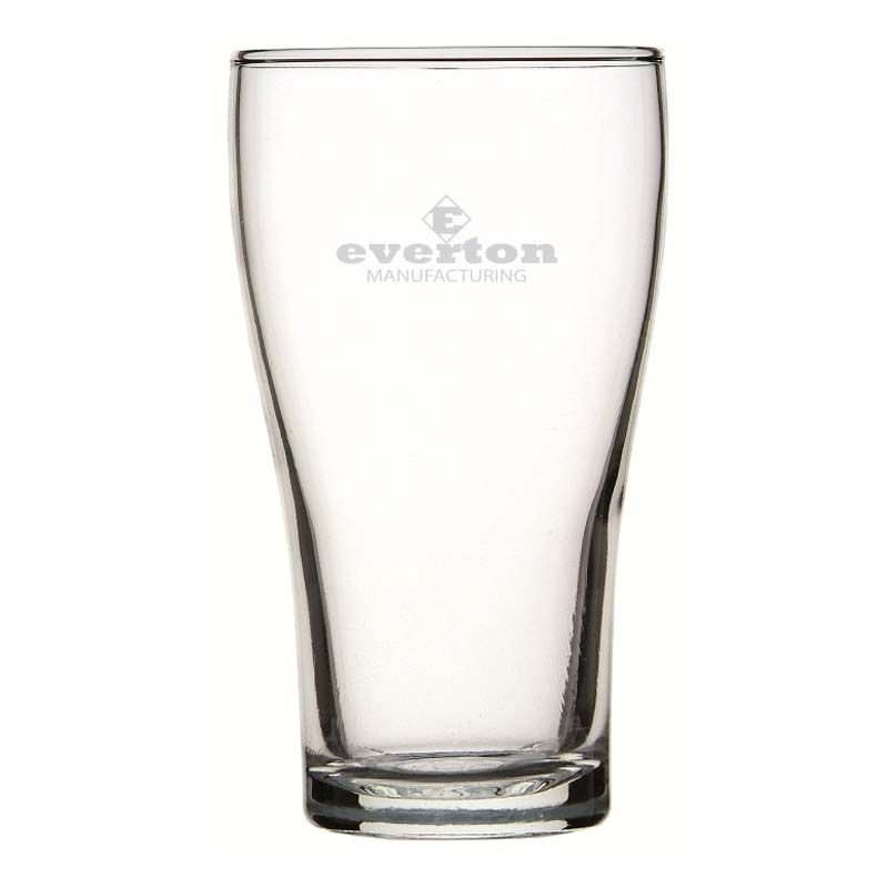GLBG240007N 425ml Crowntuff Conical Nucleated Promotional Beer Glasses