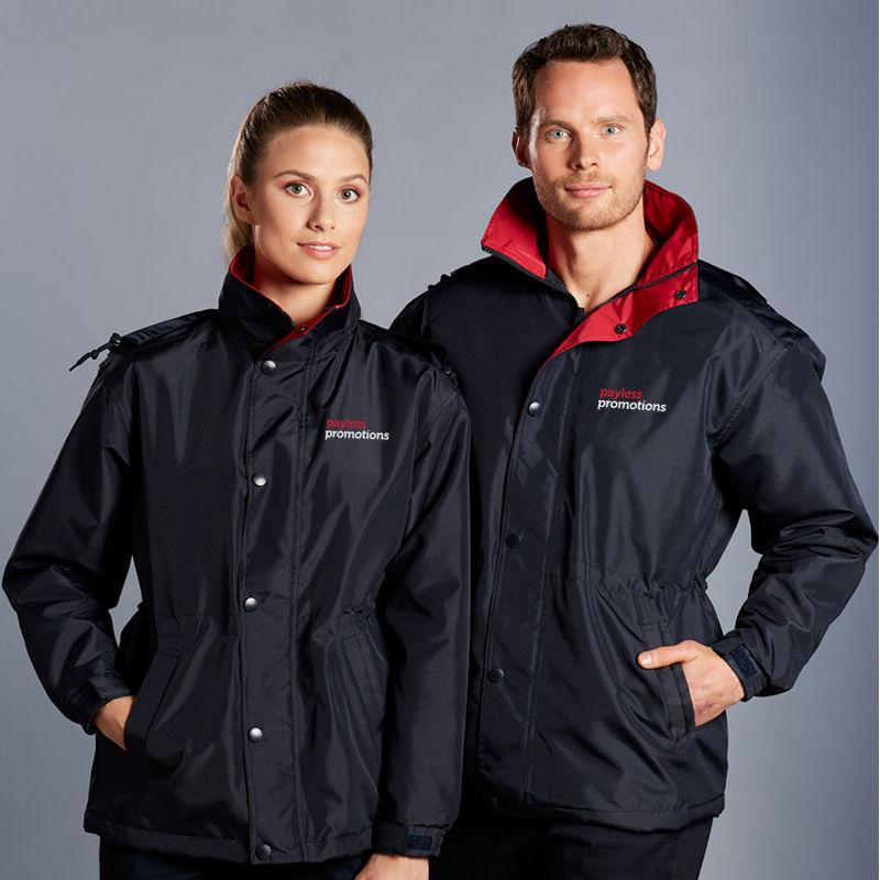 JK01 Unisex Stadium Printed Rain Jackets With Concealed Hood