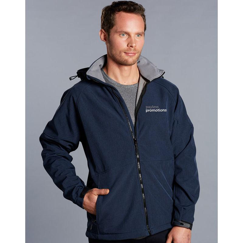 JK33 Aspen Team Softshell Jackets With Detachable Hood