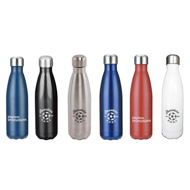 JM038 Premium Double Wall Branded Stainless Sports Drink Bottles - 500ml