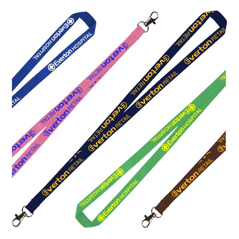 LANPOLY20 Promotional 20mm Flat Polyester Lanyards With Attachment (Stock Colours)
