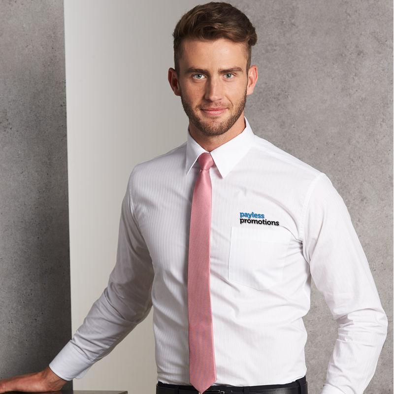 M7100L Self Stripe Custom Business Shirts - Benchmark Range