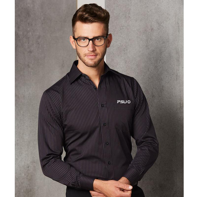 M7132 Dobby Stripe Embroidered Corporate Shirts - Benchmark Range