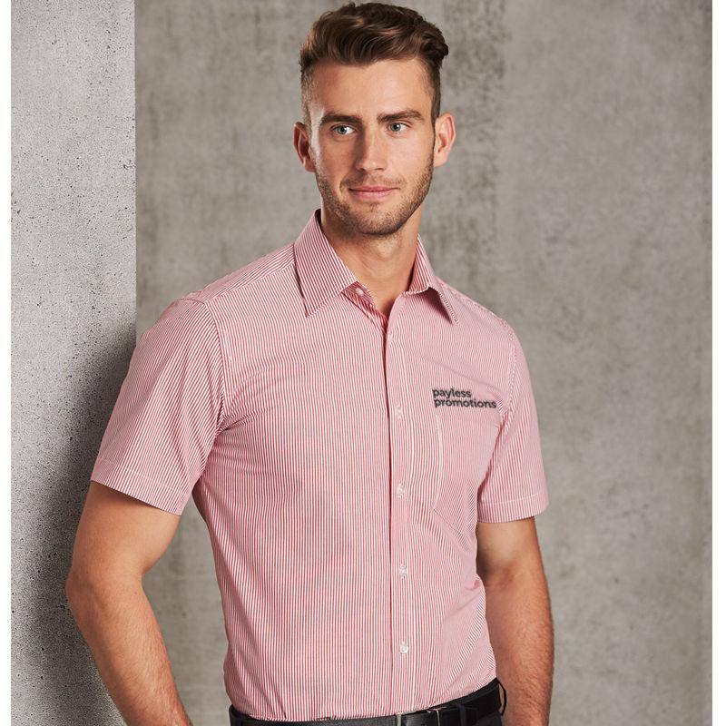 M7231 Balance Stripe Logo Business Shirts - Benchmark Range