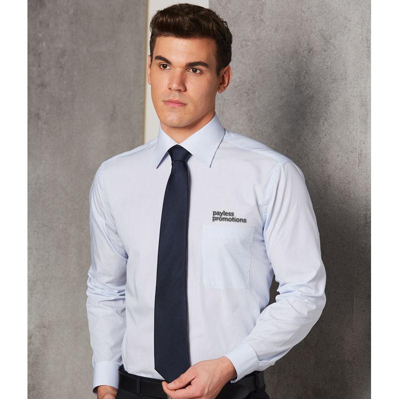 M7362 Mini Check Premium Embroidered Button-Up Shirts - Benchmark Range