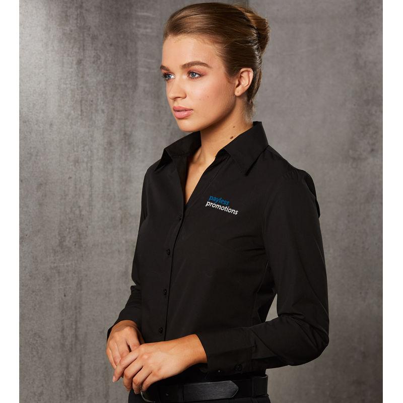 M8002 Ladies 'Nano' Wrinkle Embroidered Corporate Shirts - Benchmark Range