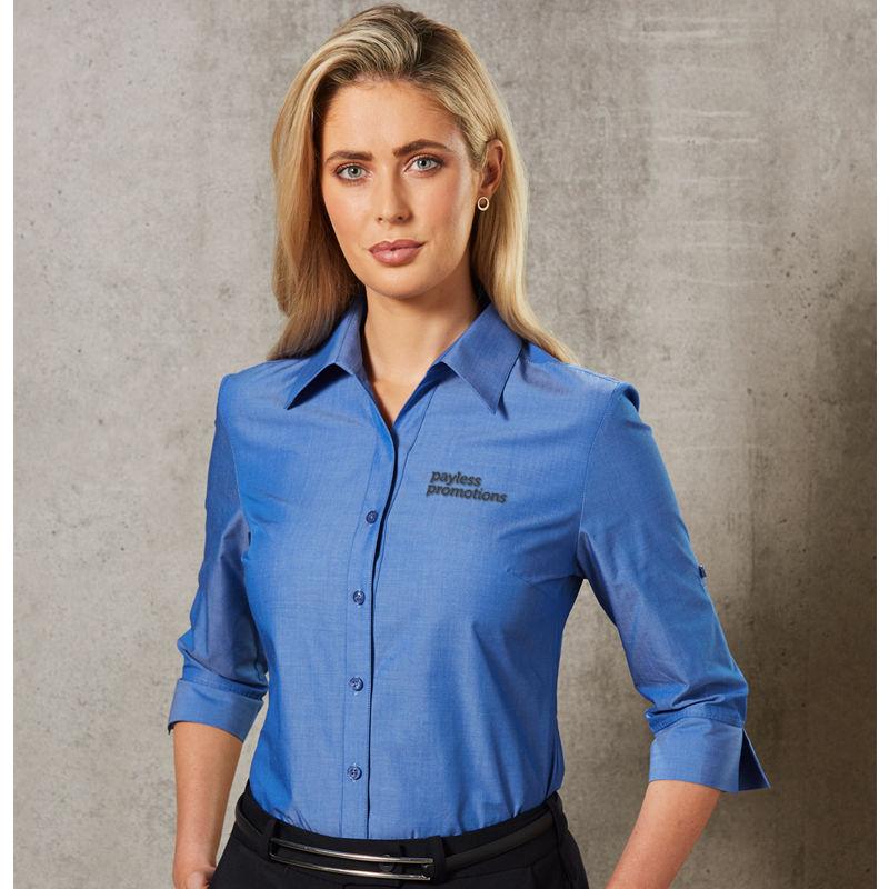 M8003 Ladies 'Nano' Wrinkle Embroidered Corporate Shirts - Benchmark Range