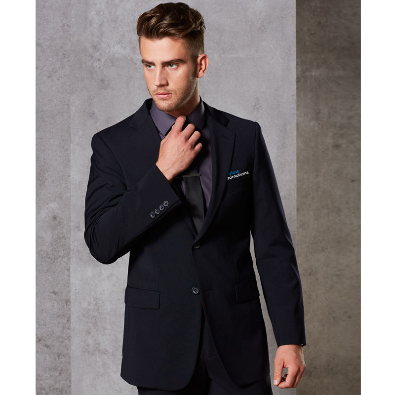 M9100 Wool Blend Two Button Printed Suit Jackets With Stretch