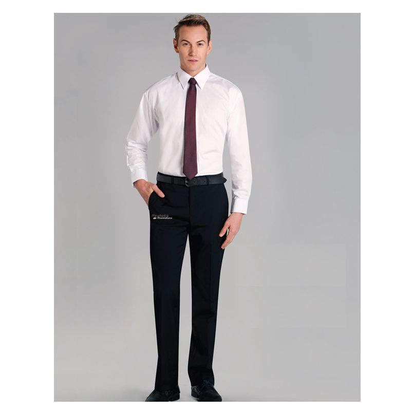 M9310 Wool Blend Embroidered Corporate Pants With Stretch & Adjustable Waist