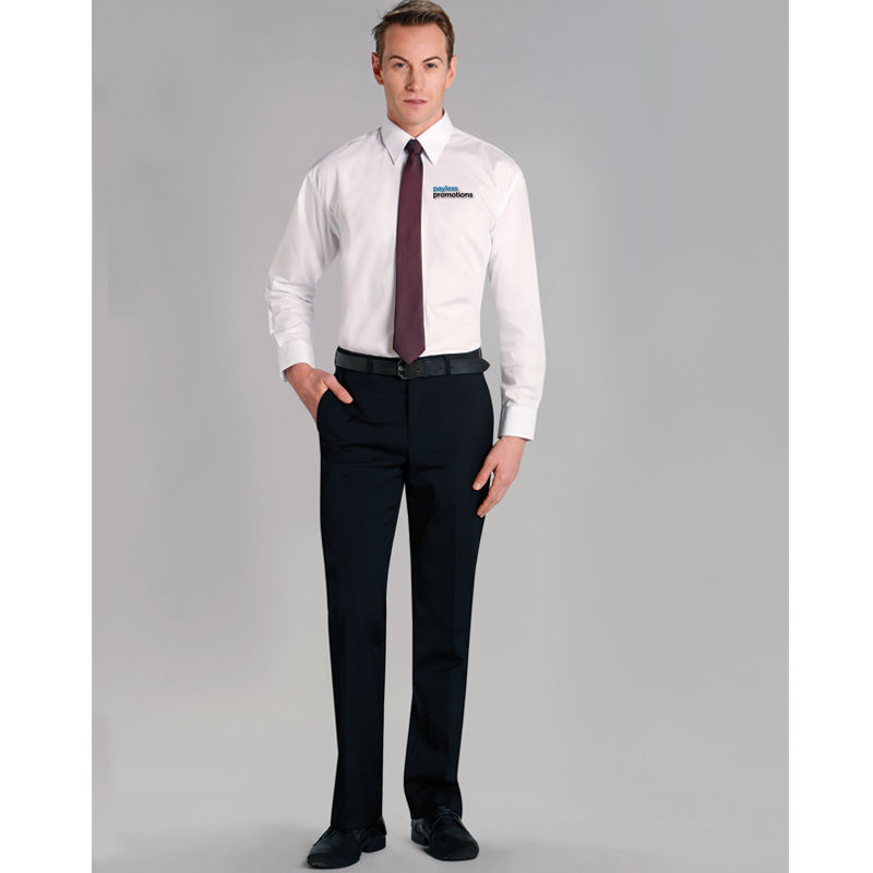 M9340 Poly/Viscose Corporate Corporate Slacks With Stretch & Adjustable Waist
