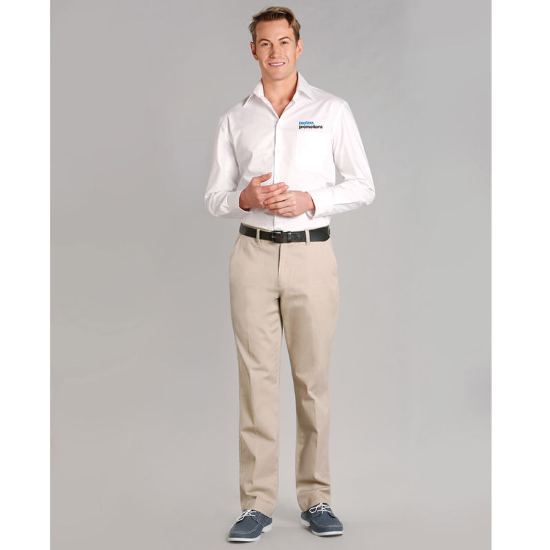 M9360 Chino Embroidered Corporate Slacks With Stretch