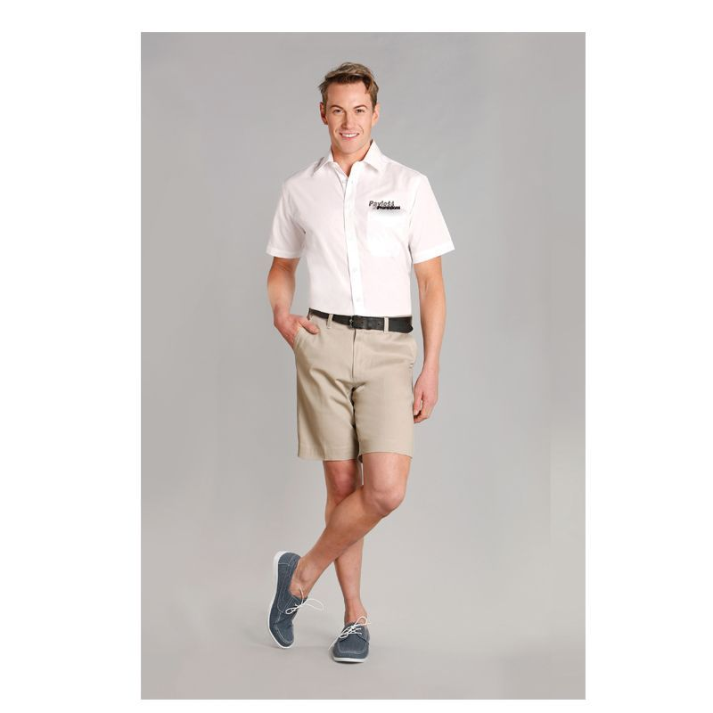 M9361 Chino Embroidered Corporate Shorts With Stretch - Benchmark Range