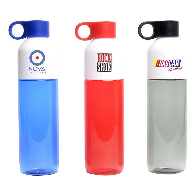 NP119 Translucent Business Plastic Drink Bottles With Holder - 770ml