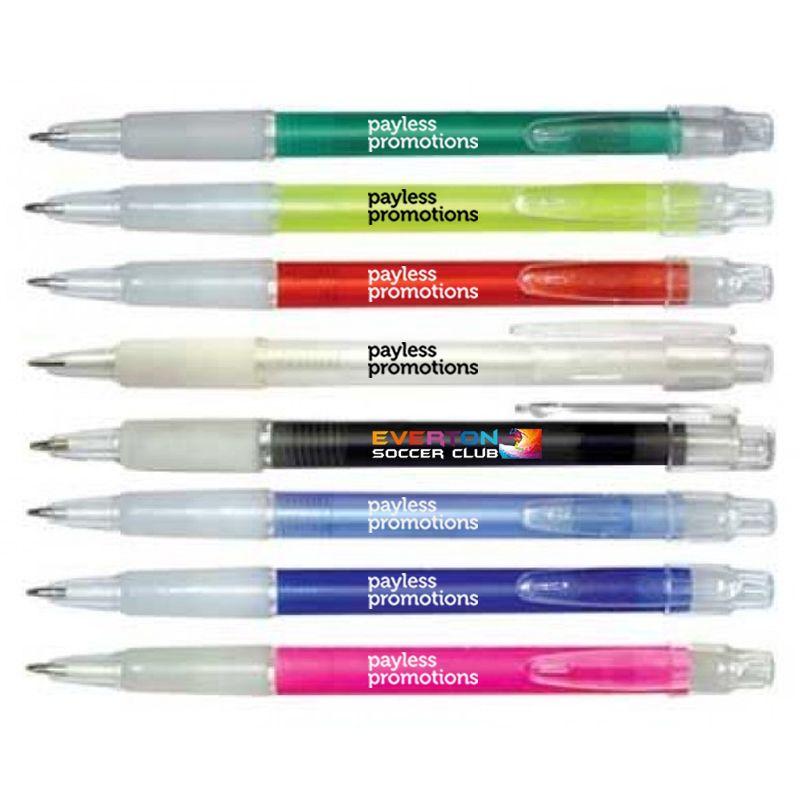 P16 Ice Grip Printed Plastic Pens