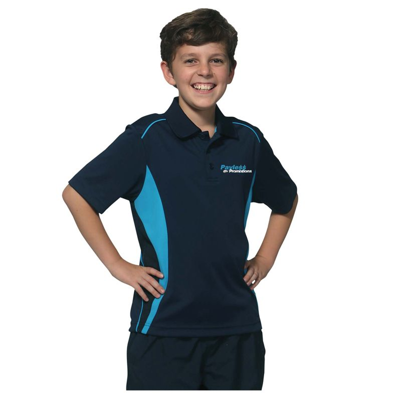 PS79K Kids Pursuit CoolDry Embroidered Polos