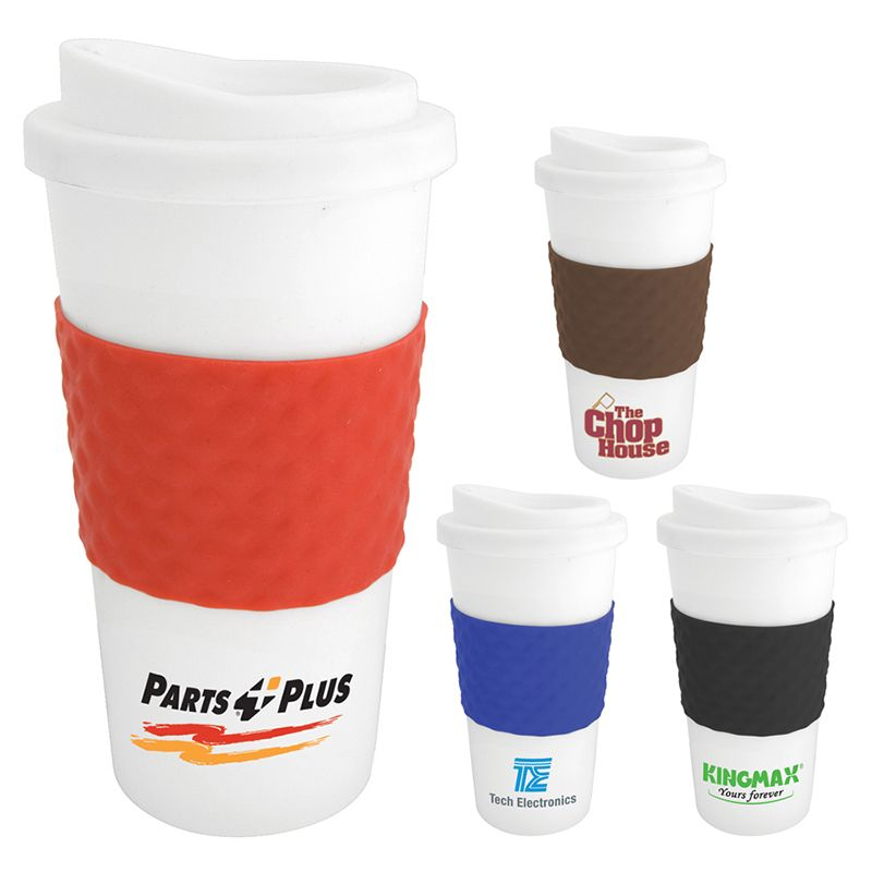 S-122 470ml Plastic Printed Re-usable Coffee Cups